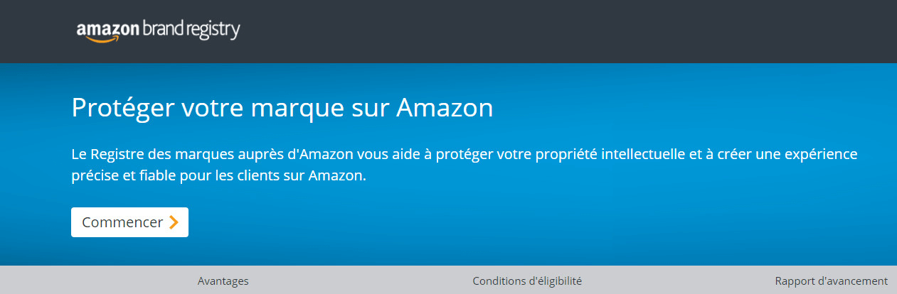 Enregistrer sa marque Amazon Brand Registry